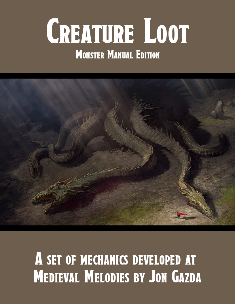 Creature Loot PDF | GM Binder