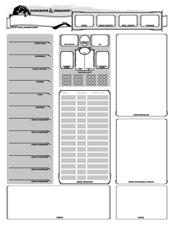 Spelljammer 5e Homebrew Conversion | GM Binder